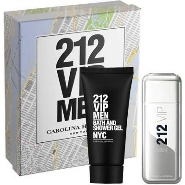 Conjunto Masculino Perfume 212 Vip Men Eau de Toilette - 100ml + Gel de Banho - 100ml