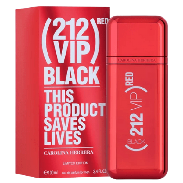 212 VIP BLACK (RED)- EDIÇÃO LIMITADA- 100ml