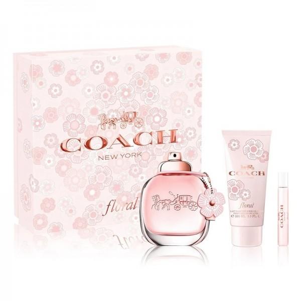 Kit Coach New York Floral - Eau de Parfum 90ml + Loção Hidratante - 100ml + Eau de Parfum - 7.5ml